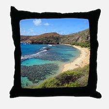 Hanauma Bay Hawaii Throw Pillow