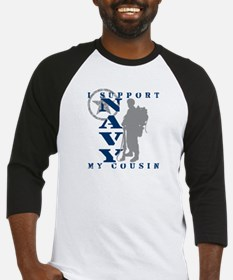 I Support Cousin 2 - NAVY Baseball Jersey