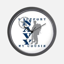 I Support Cousin 2 - NAVY Wall Clock