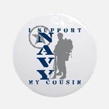I Support Cousin 2 - NAVY Ornament (Round)