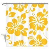 Hawaiian hibiscus Shower Curtains