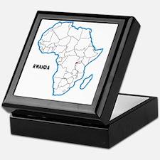Cute Rwanda Keepsake Box
