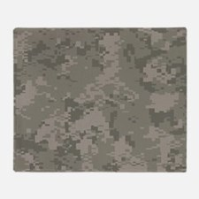 Army Camo Throw Blanket