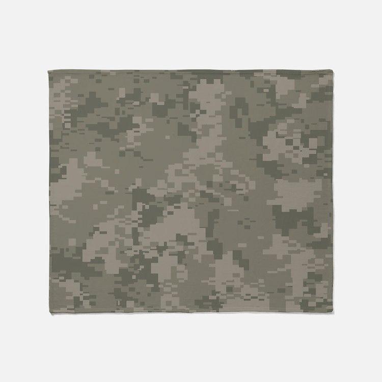 Army Camo Throw Blanket