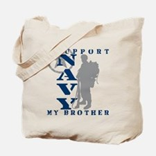 I Support Brother 2 - NAVY Tote Bag