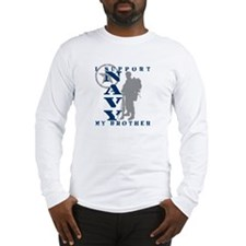 I Support Brother 2 - NAVY Long Sleeve T-Shirt