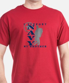 I Support Brother 2 - NAVY T-Shirt