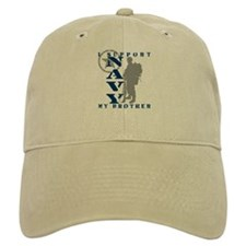 I Support Brother 2 - NAVY Baseball Cap