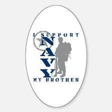 I Support Brother 2 - NAVY Oval Decal