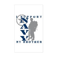 I Support Brother 2 - NAVY Rectangle Decal