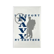 I Support Brother 2 - NAVY Rectangle Magnet