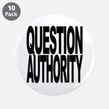 """Question Authority 3.5"""" Button (10 pack)"""
