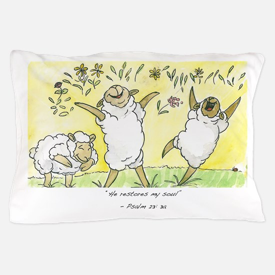 psalm 23: 3a Pillow Case