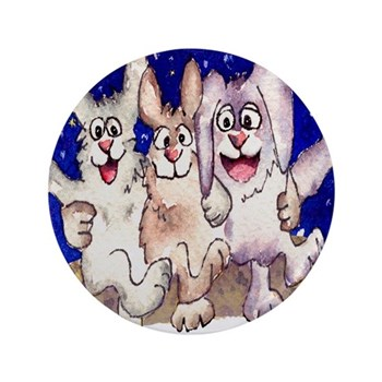 "Full Moon Rabbits 3.5"" Button (100 pack)"