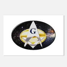 Futuristic Freemason Postcards (Package of 8)