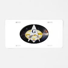Futuristic Freemason Aluminum License Plate