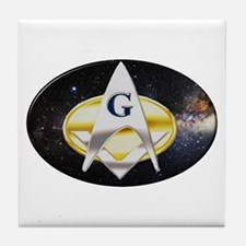 Futuristic Freemason Tile Coaster
