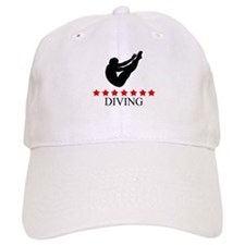 Mens Diving (red stars) Baseball Cap