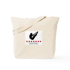 Mens Diving (red stars) Tote Bag