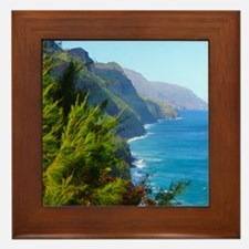 Kalalau Trail Hawaii Framed Tile