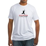 Long Jump (red stars) Fitted T-Shirt
