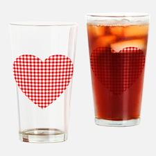 Unique White heart Drinking Glass