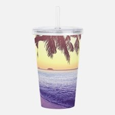 Tropical Beach Acrylic Double-wall Tumbler