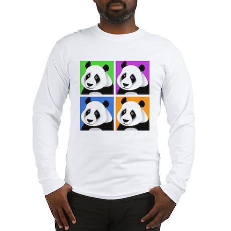 Panda Bear Squares Long Sleeve T-Shirt