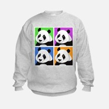 Panda Bear Squares Sweatshirt