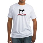 Kickboxing (red stars) Fitted T-Shirt