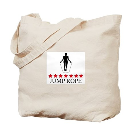 Jump Rope (red stars) Tote Bag