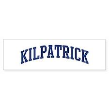 KILPATRICK design (blue) Bumper Bumper Sticker