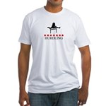 Hurdling (red stars) Fitted T-Shirt
