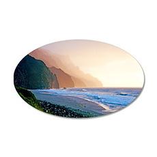 Sunset Kalalau Beach Wall Decal