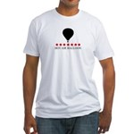 Hot Air Balloon (red stars) Fitted T-Shirt