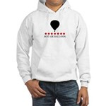 Hot Air Balloon (red stars) Hooded Sweatshirt