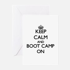 Keep Calm and Boot Camp ON s Greeting Cards