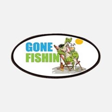 Gone Fishin Alligator In Beach Chair Patch