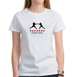 Fencing (red stars) Women's T-Shirt
