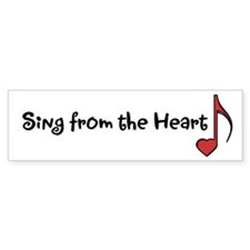 Sing from the Heart Bumper Car Sticker