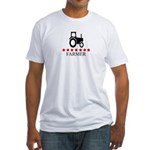 Farmer (red stars) Fitted T-Shirt