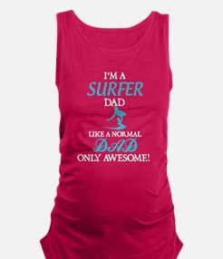 Awesome Surfer Dad Maternity Tank Top