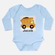 Jacob's Dump Truck Long Sleeve Infant Bodysuit