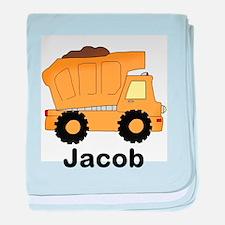 Jacob's Dump Truck baby blanket