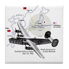 B-25 Mitchell 1942 Tile Coaster