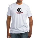 Darts (red stars) Fitted T-Shirt