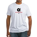 DJ (red stars) Fitted T-Shirt