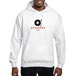 DJ (red stars) Hooded Sweatshirt