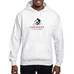 Cycling (red stars) Hooded Sweatshirt