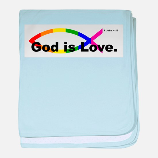 God is Love. baby blanket